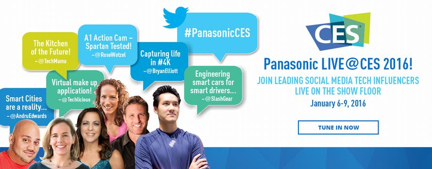 Follow #PanasonicCES