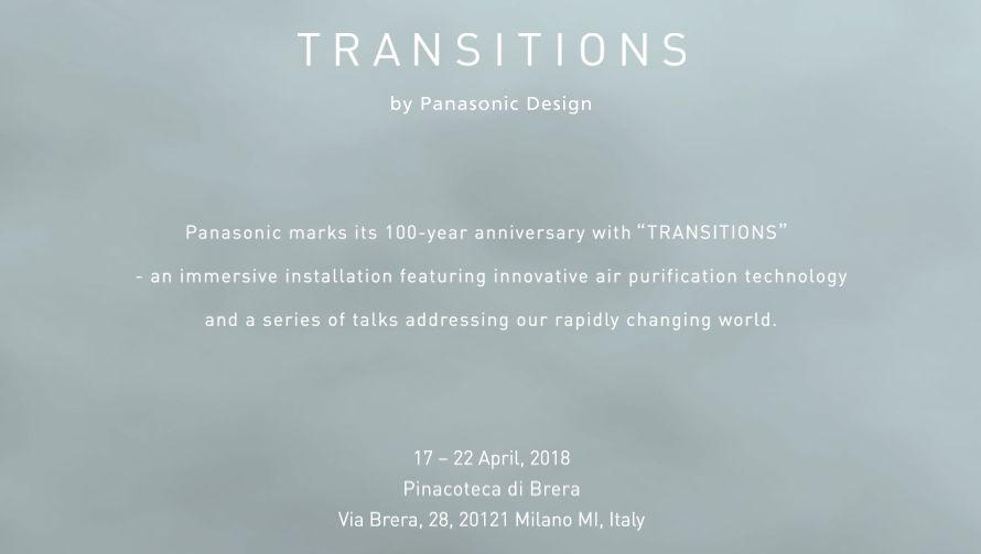 Banner of TRANSITIONS by Panasonic Design