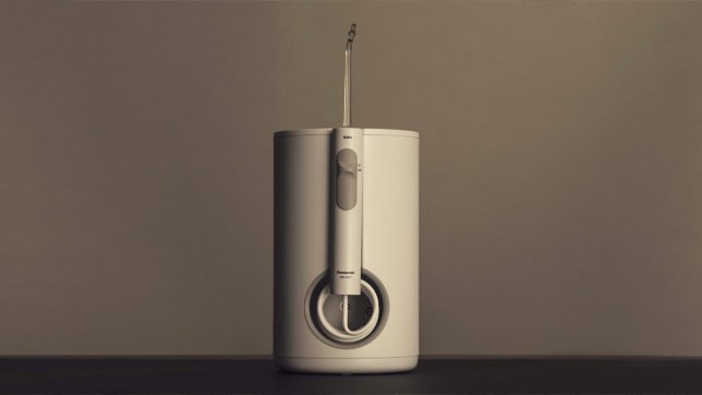 A Symmetrically Designed Cylindrical Oral Irrigator Perfect for Sanitary Spaces