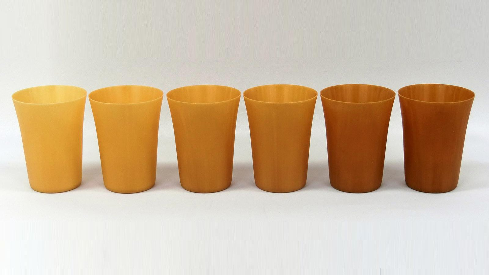Photo: Reusable cups made from high concentration cellulose fiber molding material