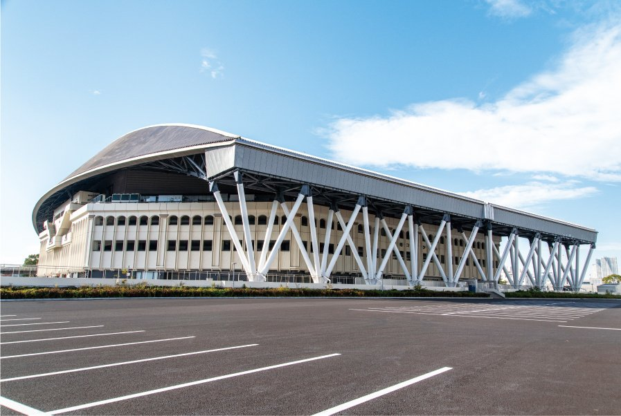 Photo: External view of the Ariake Coliseum
