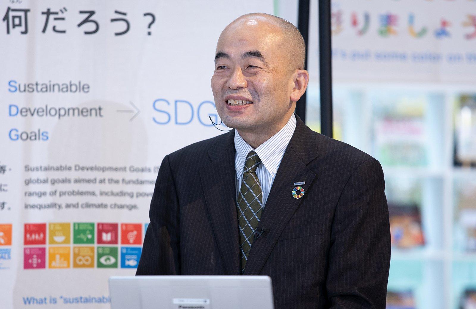 Photo: Shoji Kusumoto, Director, Environmental Management Department, Quality & Environment Division, Panasonic Corporation