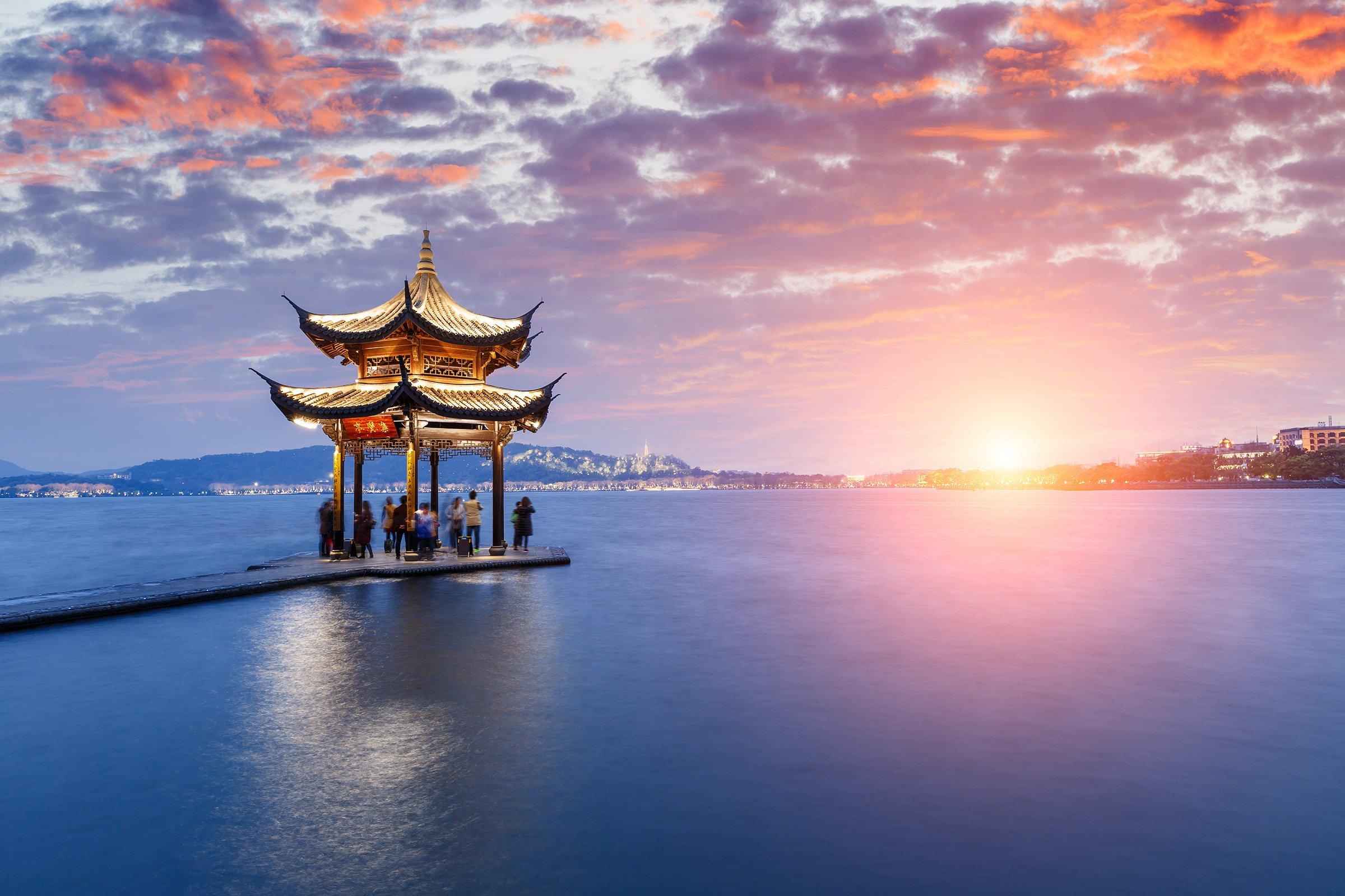 Photo: The symbol of Hangzhou, Lake Xihu.