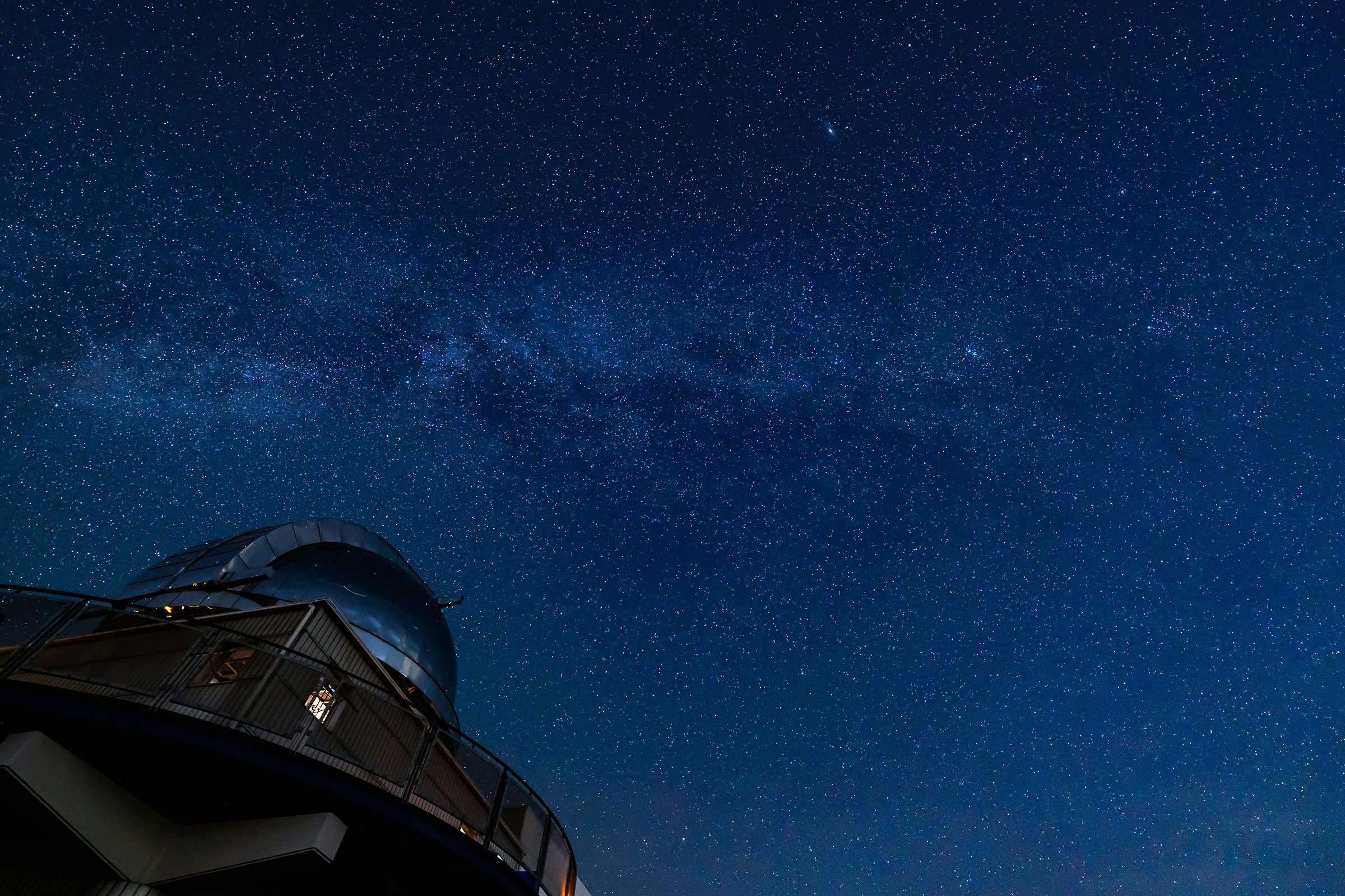 Photo: A sky full of shining stars seen above the Bisei Astronomical Observatory.