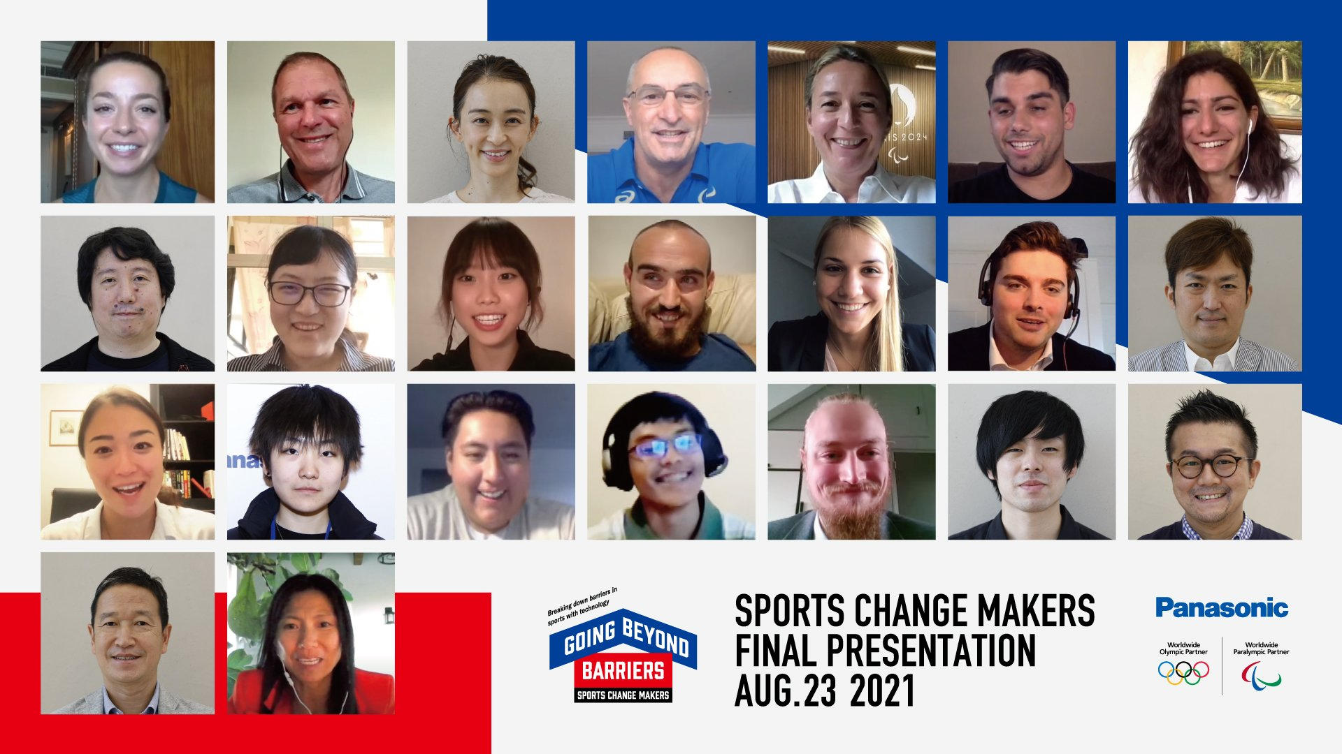 SPORTS CHANGE MAKERS Final Presentation on August 23, 2021