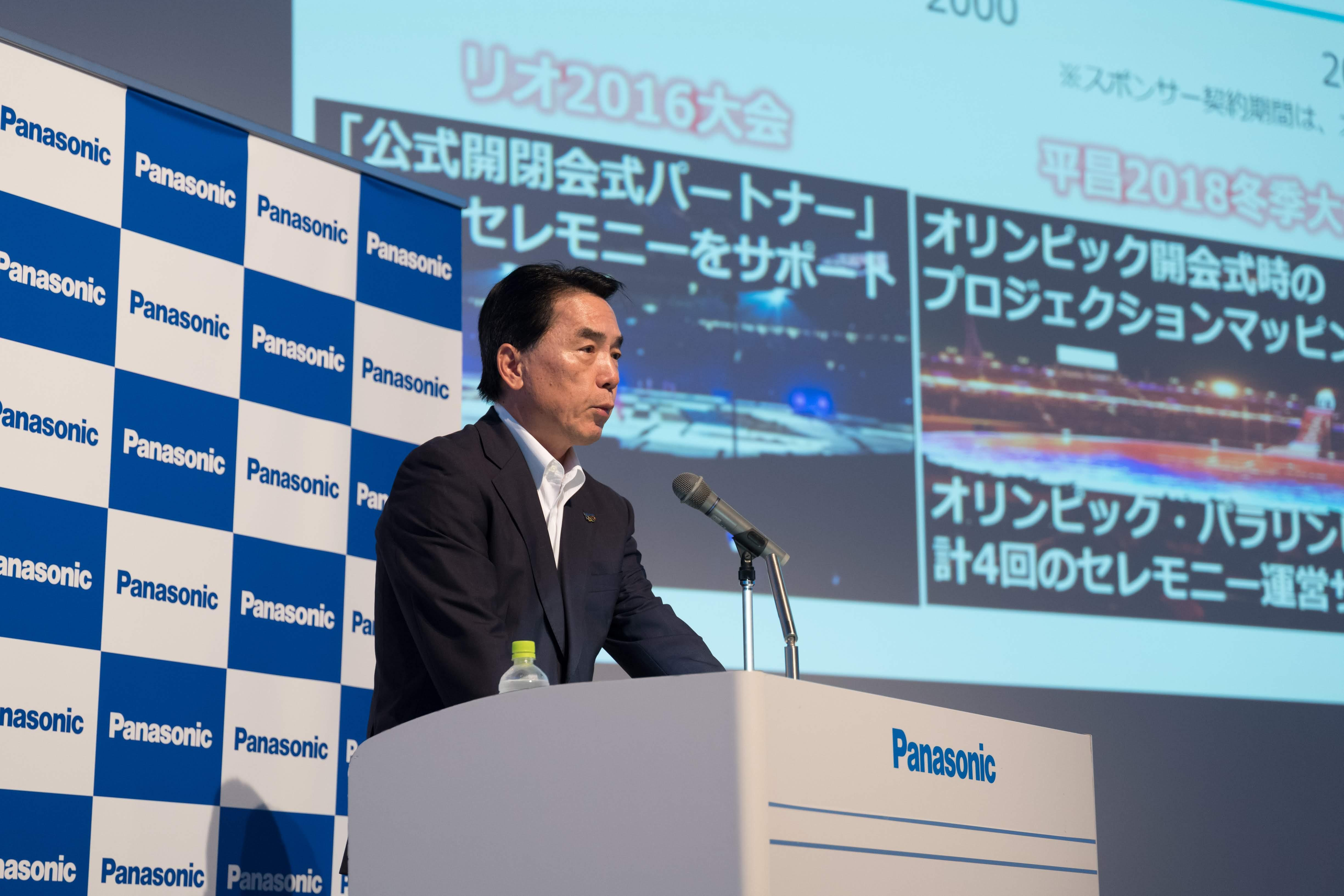 photo: Executive Officer Masahiro Ido, director of Panasonic's Tokyo Olympic & Paralympic Enterprise Division