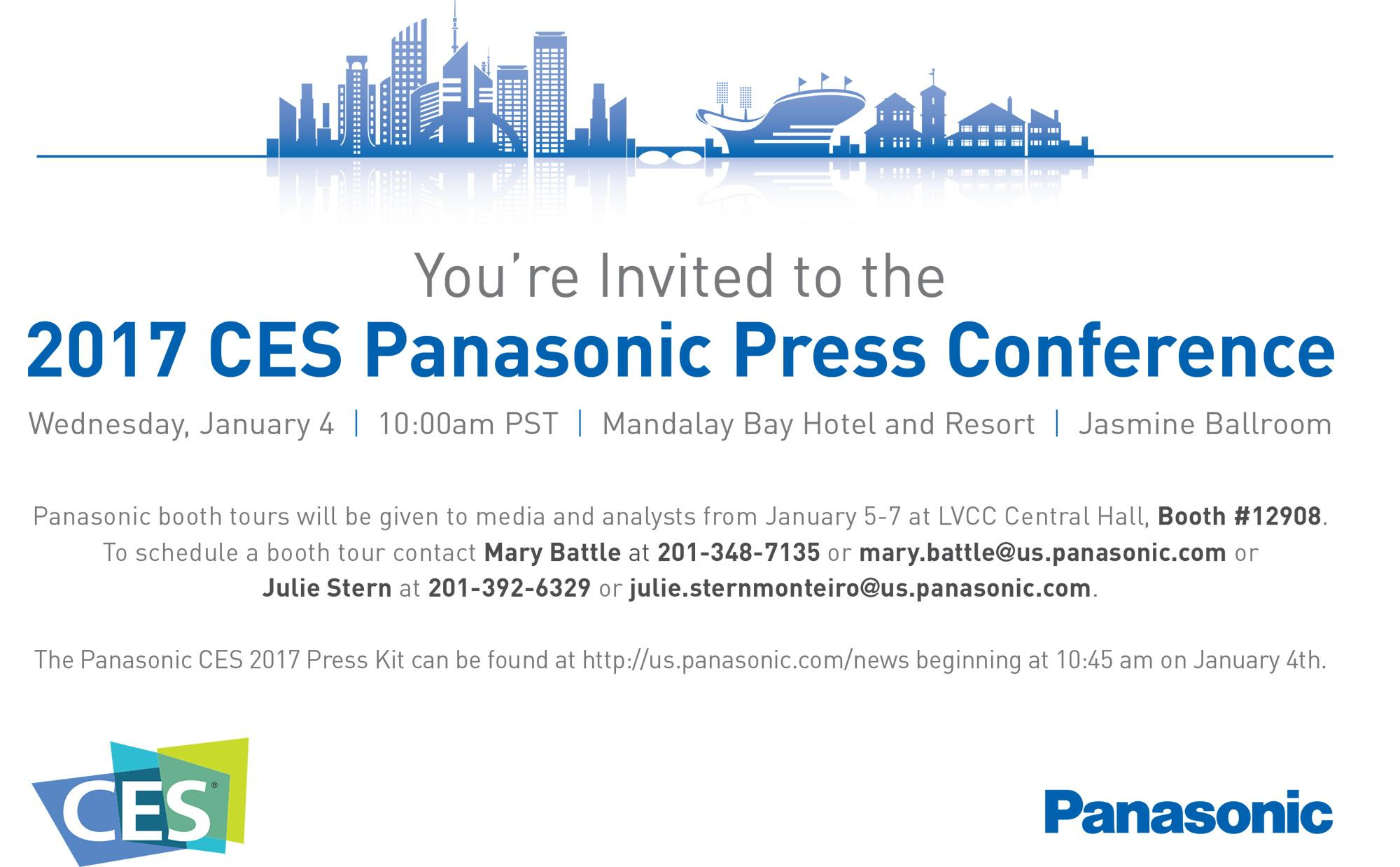 MEDIA ALERT: Panasonic at CES 2017 | CES2017 Panasonic Booth Highlghts | Panasonic Newsroom Global