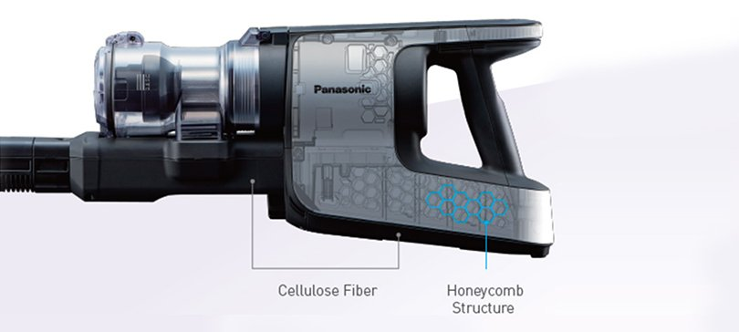 Chassis of Panasonic's cordless stick vacuum cleaners, MC-SBU820J/MC-SBU620