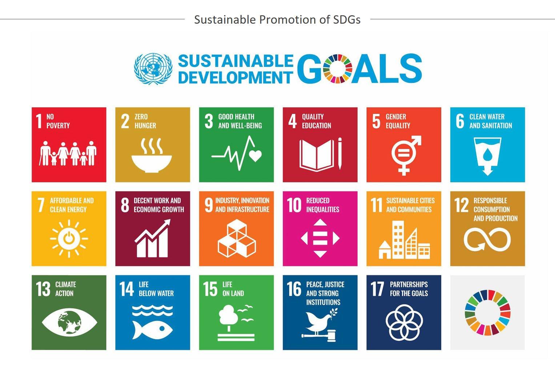 Illustration: Sustainable promotion of SDGs
