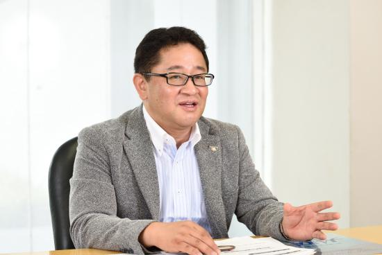 photo: Tetsu Shibuya, Chief of Project Promotion Section, Strategy Planning Department, Tokyo Olympic & Paralympic Enterprise Division, Panasonic Corporation