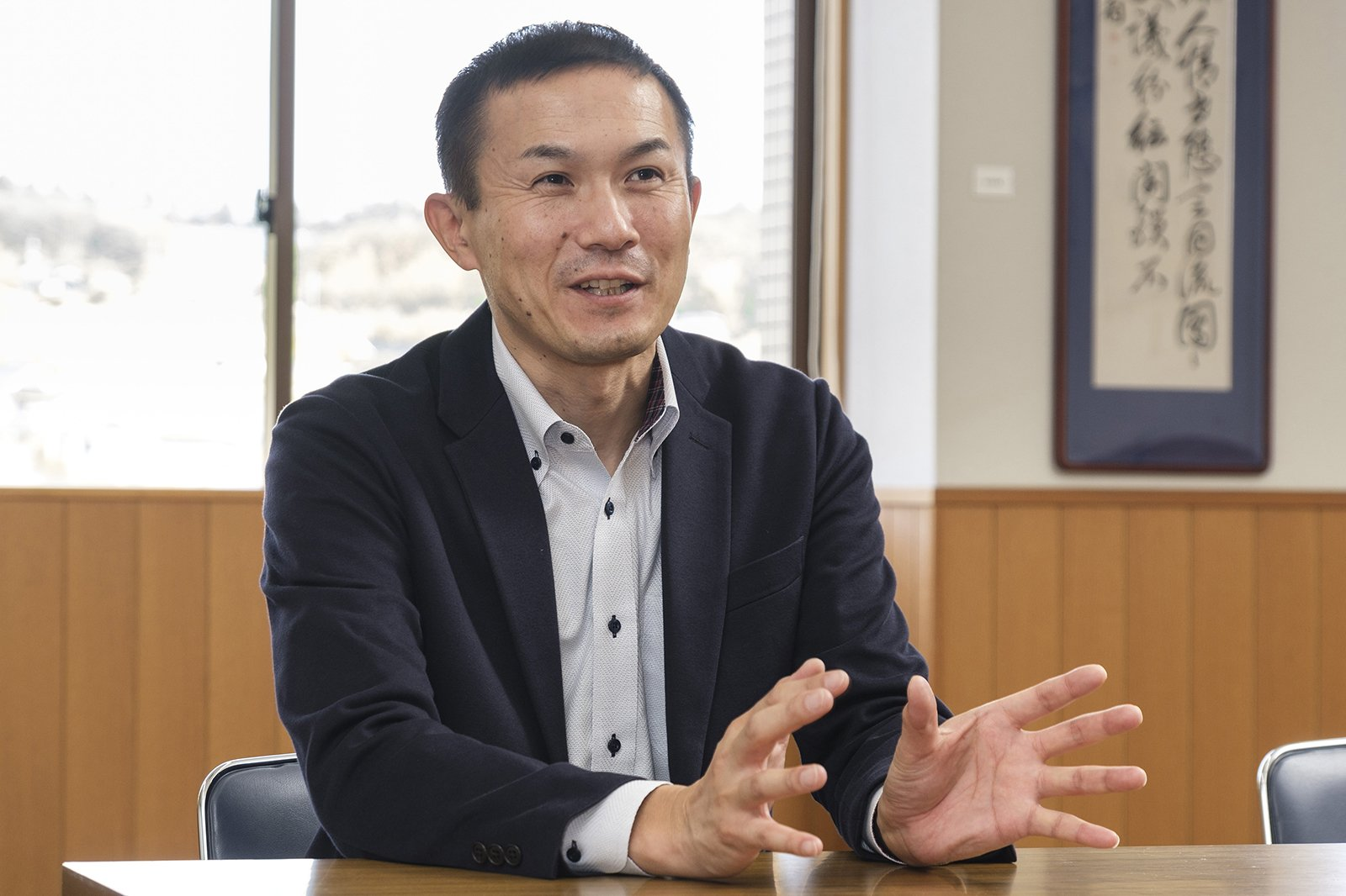 Photo: Kenji Fujioka, Assistant Director and Tourism Section Chief, Settlement and Tourism Division, Future Planning Department, Ibara City, Okayama Prefecture