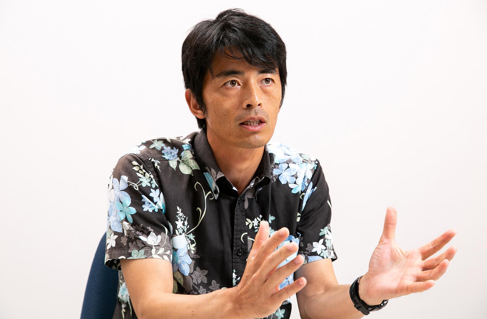 Photo: Satoru Mikami, Project Leader, Eco-Island Promotional Project, Eco-Island Promotion Sect., Planning and Policy Dept., Miyakojima City Office