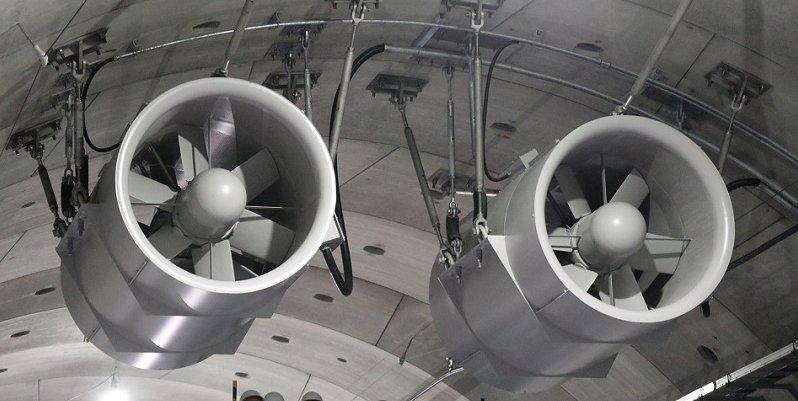 Jet fans inside the tunnel