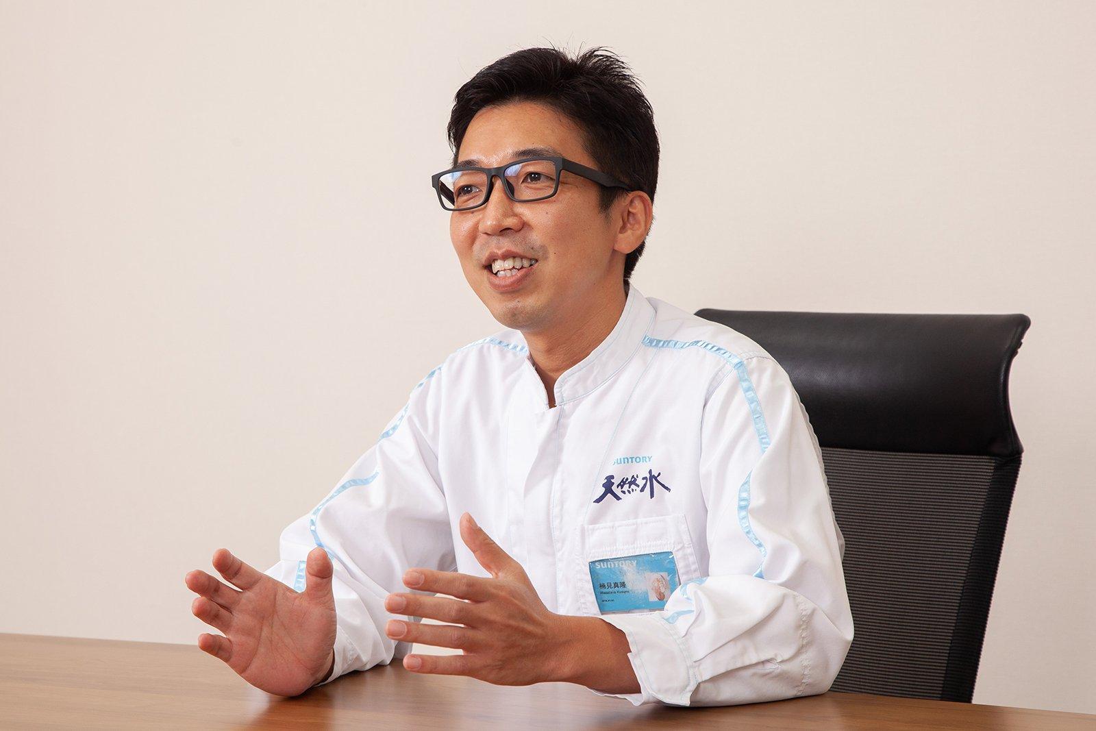 Photo: Masataka Kusumi, Section Manager, Engineering Section, Okudaisen Bunanomori Water Plant, Suntory Products Ltd.