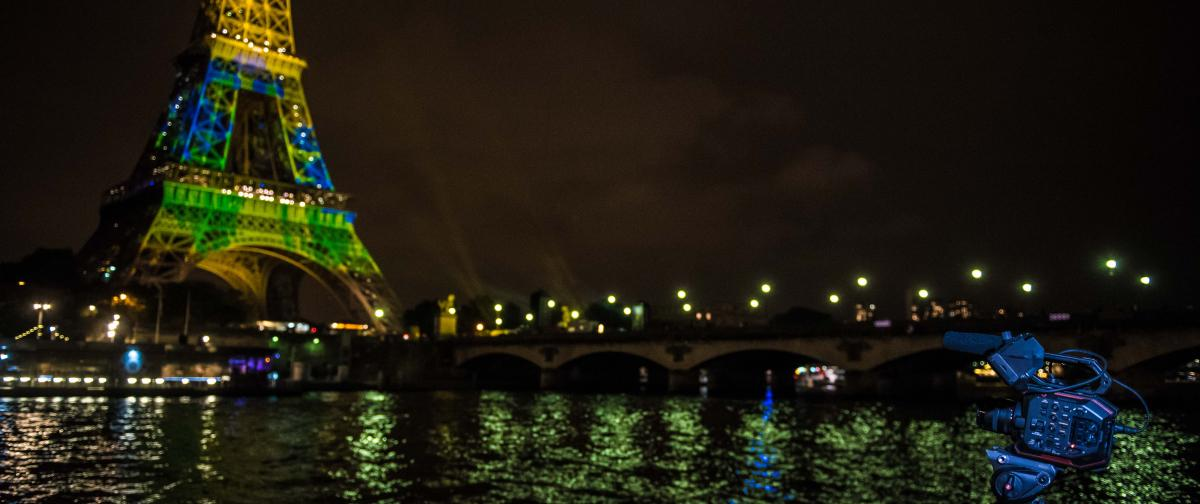 photo: the Eiffel Tower light show as part of the Japonismes 2018 celebrations