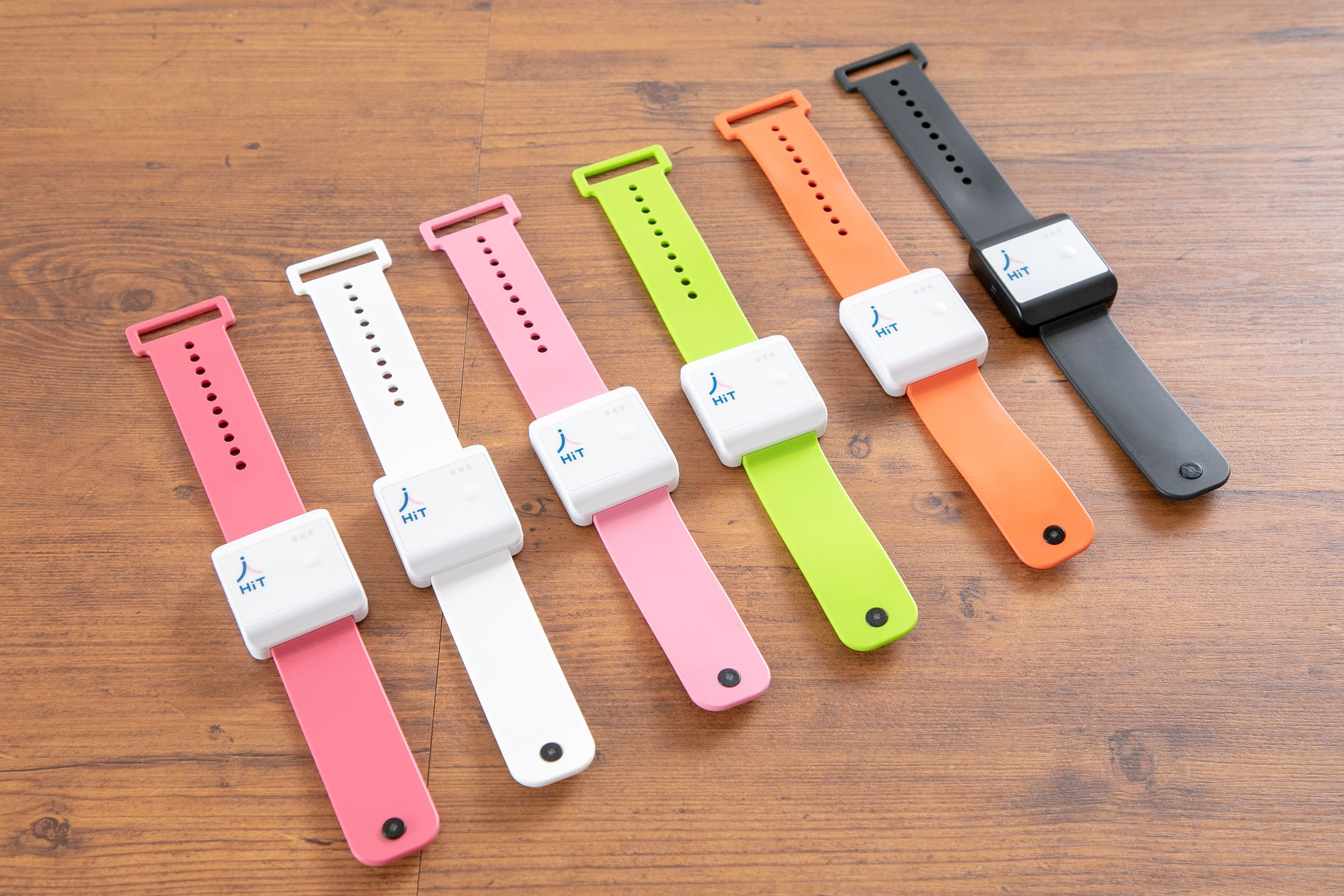 Photo: A lineup of the smart band.