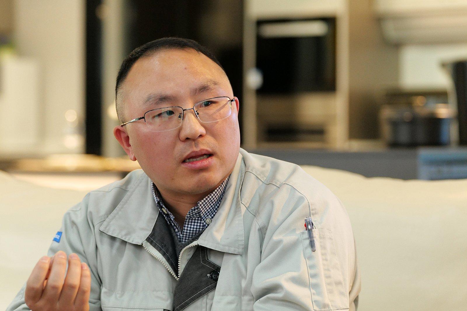 Photo: Wang Yinhui, development of advanced technologies, Panasonic Appliances (China) Co., Ltd