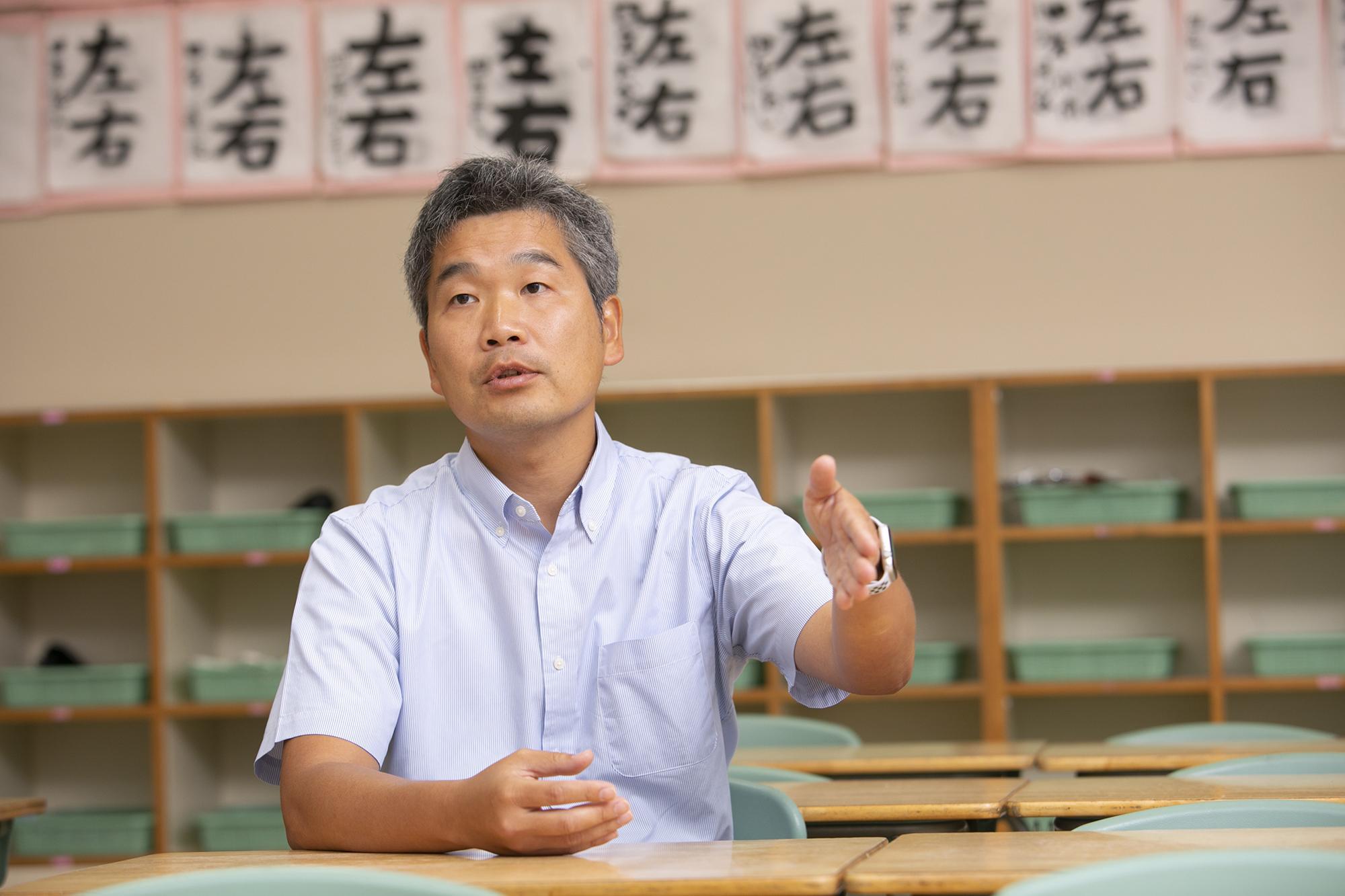 photo: Noboru Enomoto, Teacher, Elementary School, Morimura Gakuen
