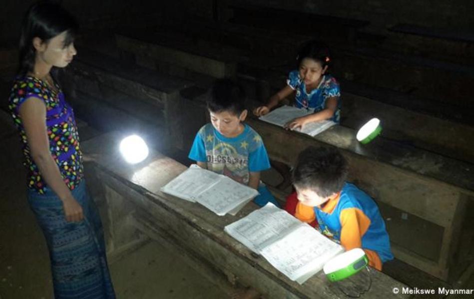 photo: solar lantern in Myanmar