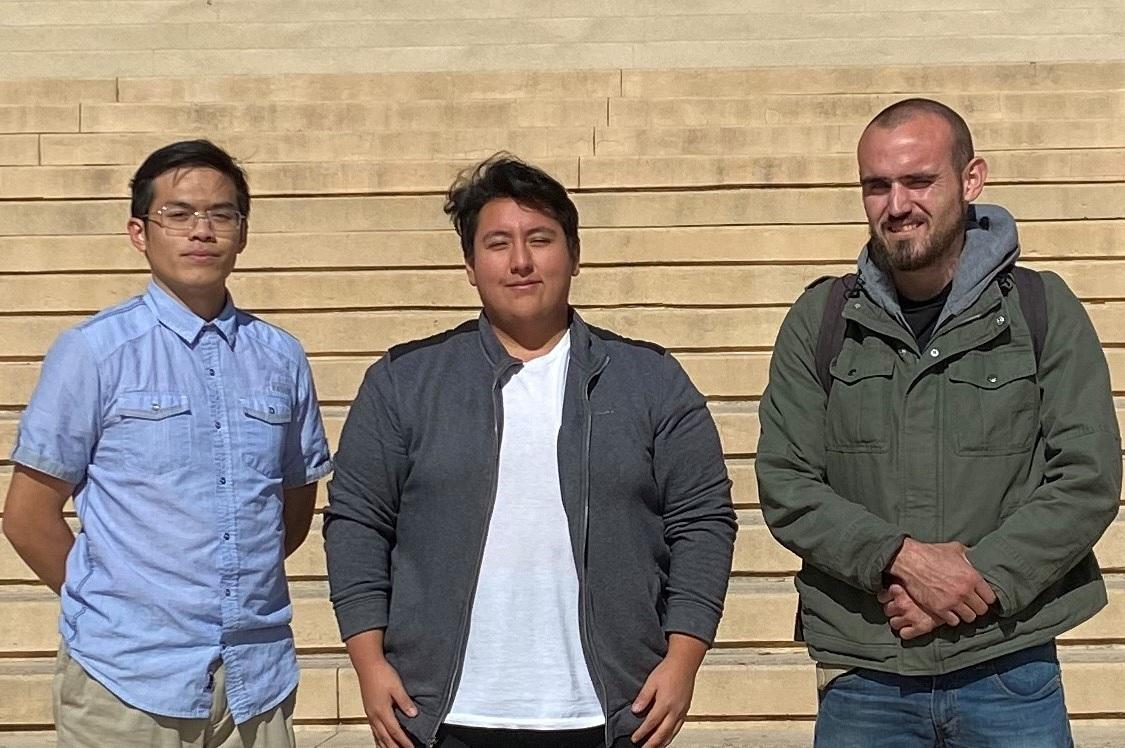 Photo: (From left to right) Mr. Timothy Nguyen, Mr. Joshua Santiago, and Mr. Justin Anderson from California State University, Northridge as regional representatives from qualification in Los Angeles
