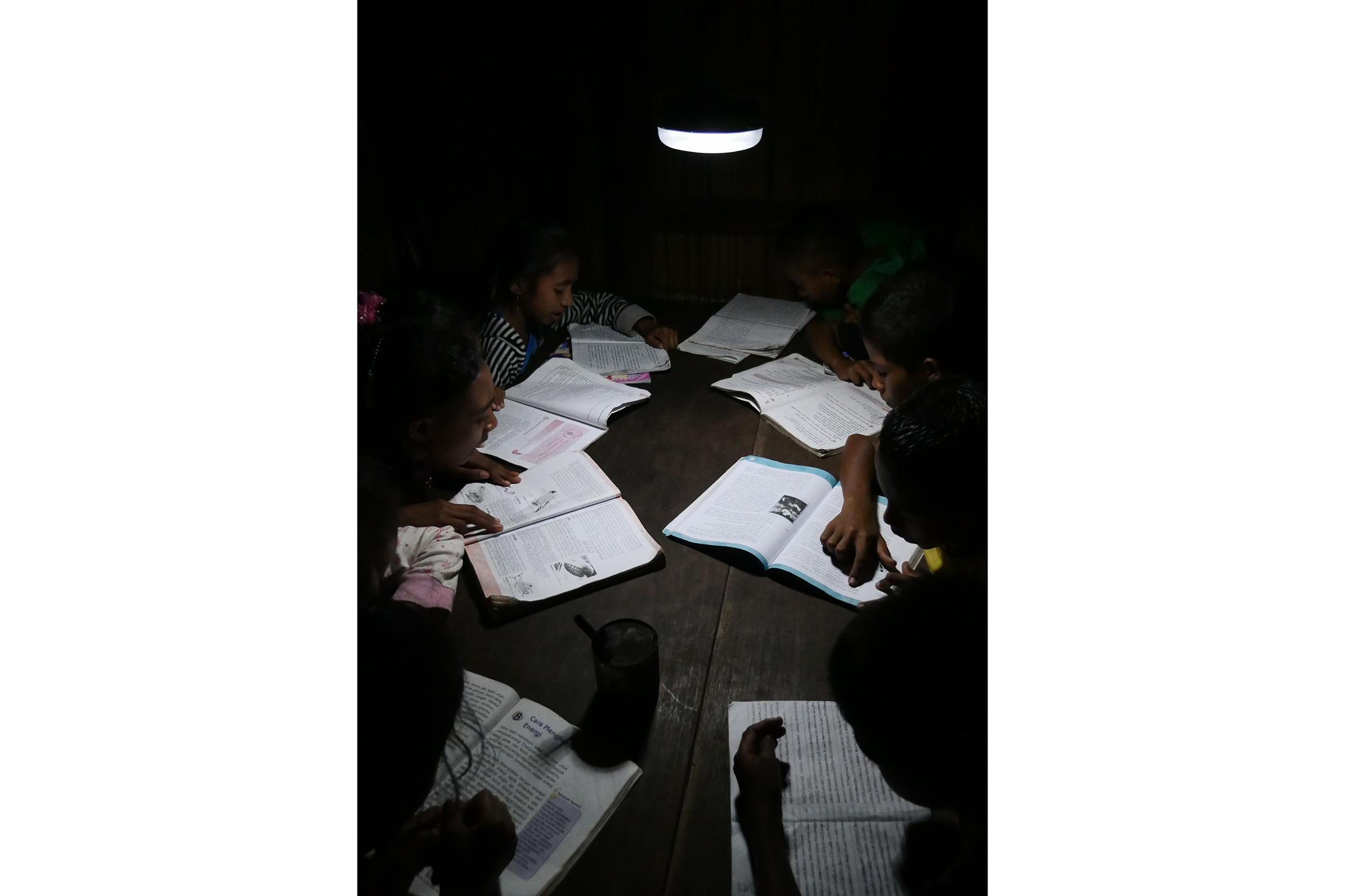 photo: panasonic's solar lanterns utilized in Indonesia