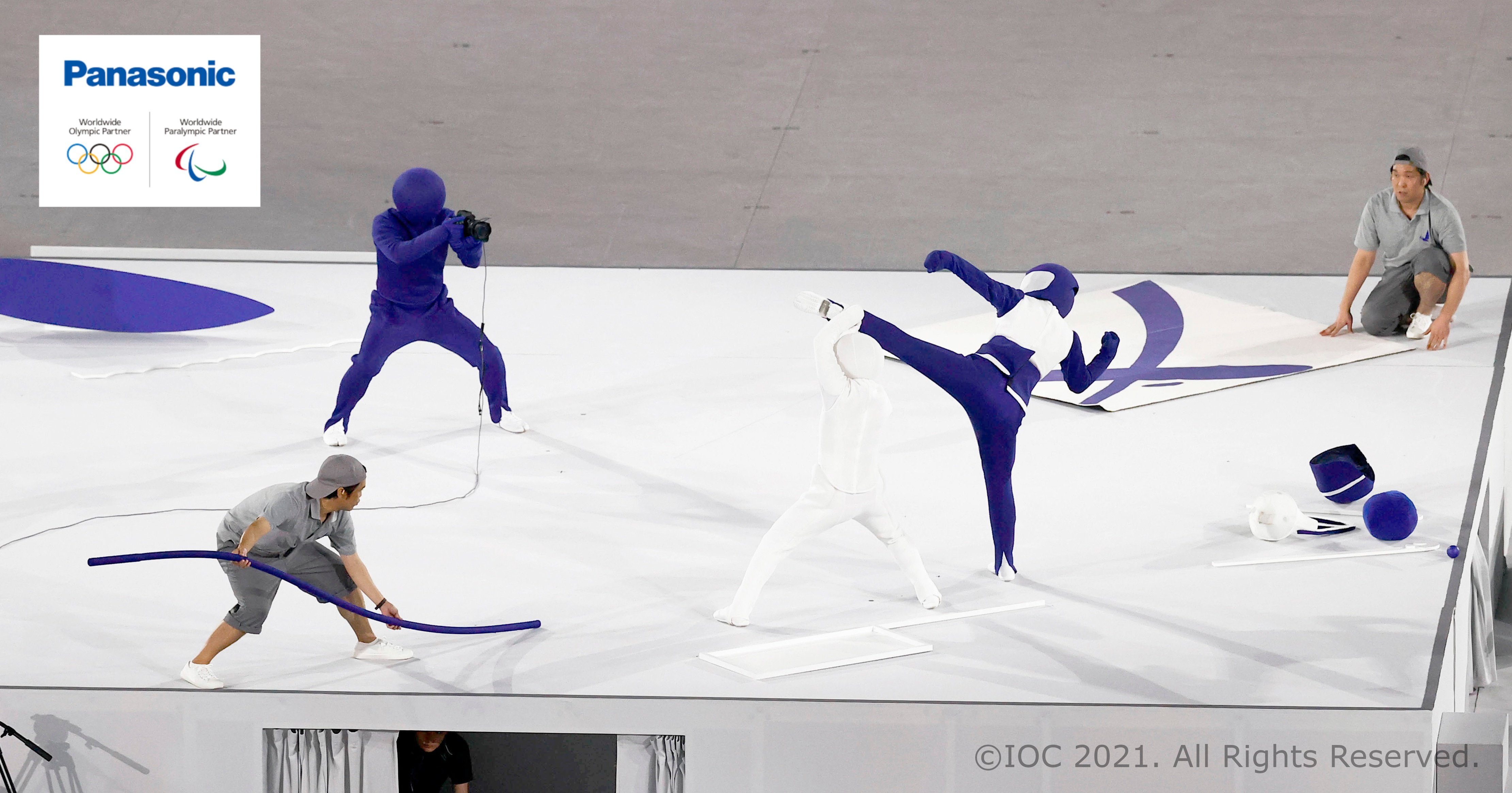 Photo: Tokyo 2020 Pictogram Performance at the Opening Ceremony