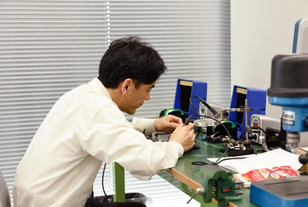 photo: Joint research and development goes on every day at Panasonic's Robotics Hub.