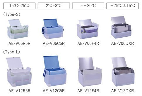 VIXELL cooling box inserts are available in two sizes and four temperature ranges.