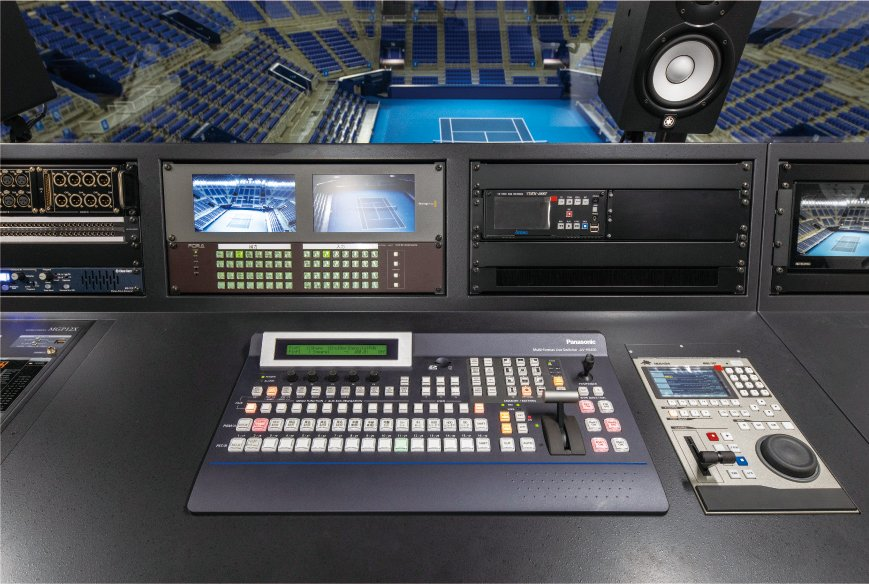Photo: The live switcher, AV-HS450N, for switching content to be displayed on the Large Screen Display Systems.