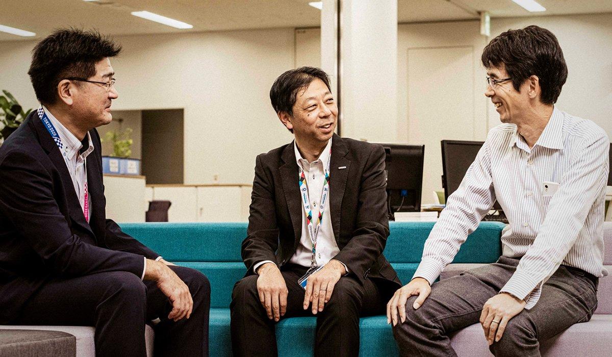 Photo, from left to right: Mikiya Nambo, Takashi Kano, and Takahiro Nakamura.