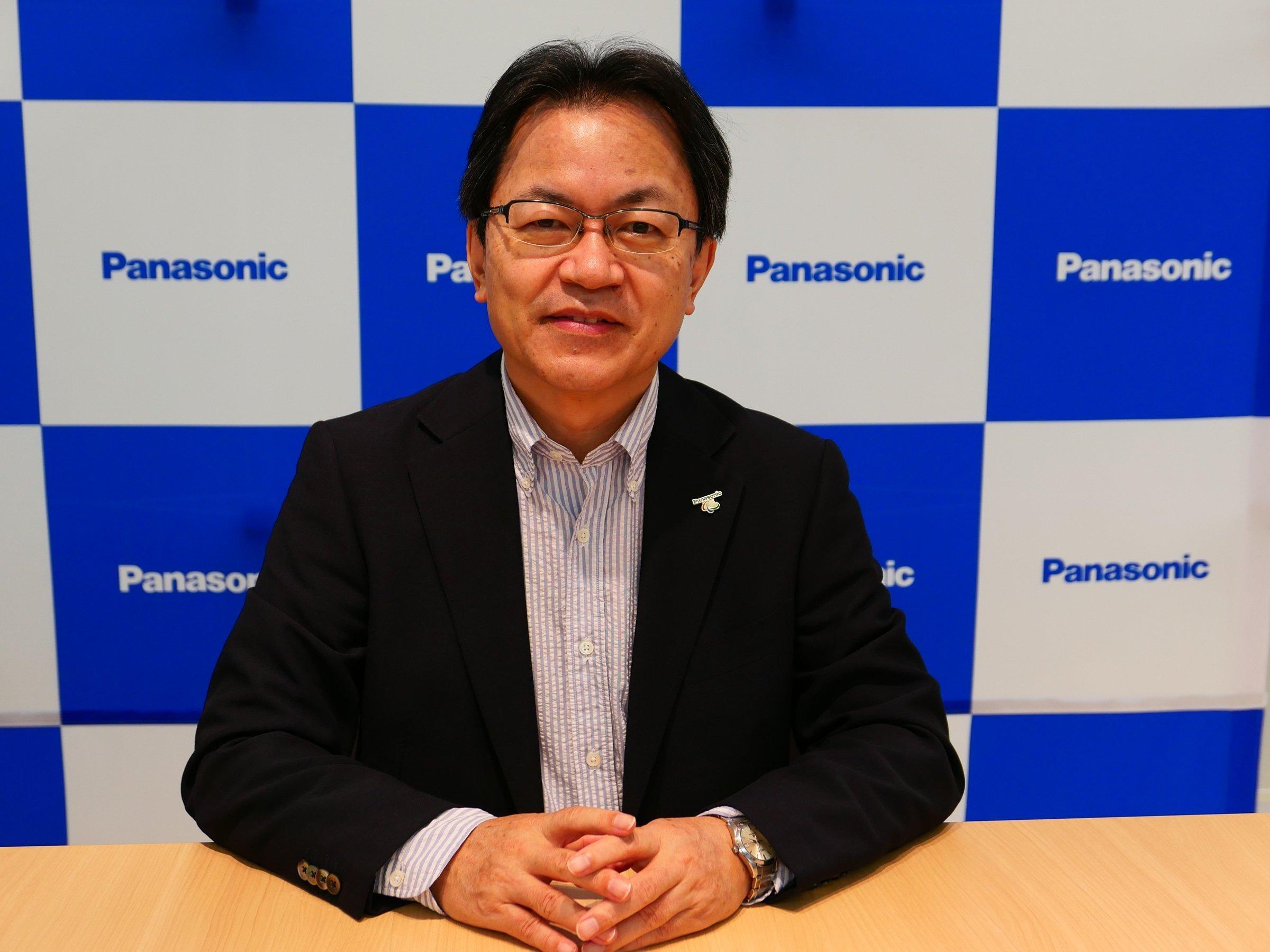 Photo: Panasonic Corporation, Senior Managing Executive Officer, Chief Technology Officer (CTO), and Chief Manufacturing Officer (CMO), Yoshiyuki Miyabe.