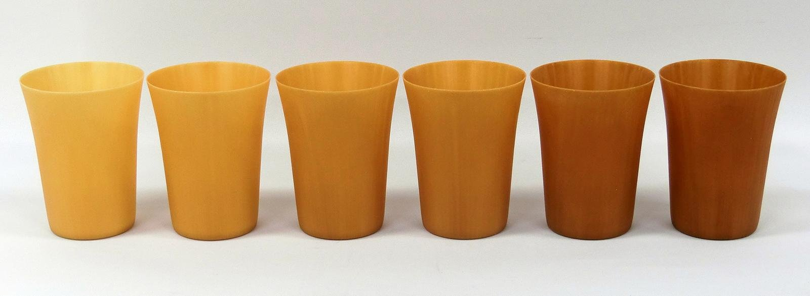 Photo: Reusable cups made from high concentration cellulose fiber molding material.