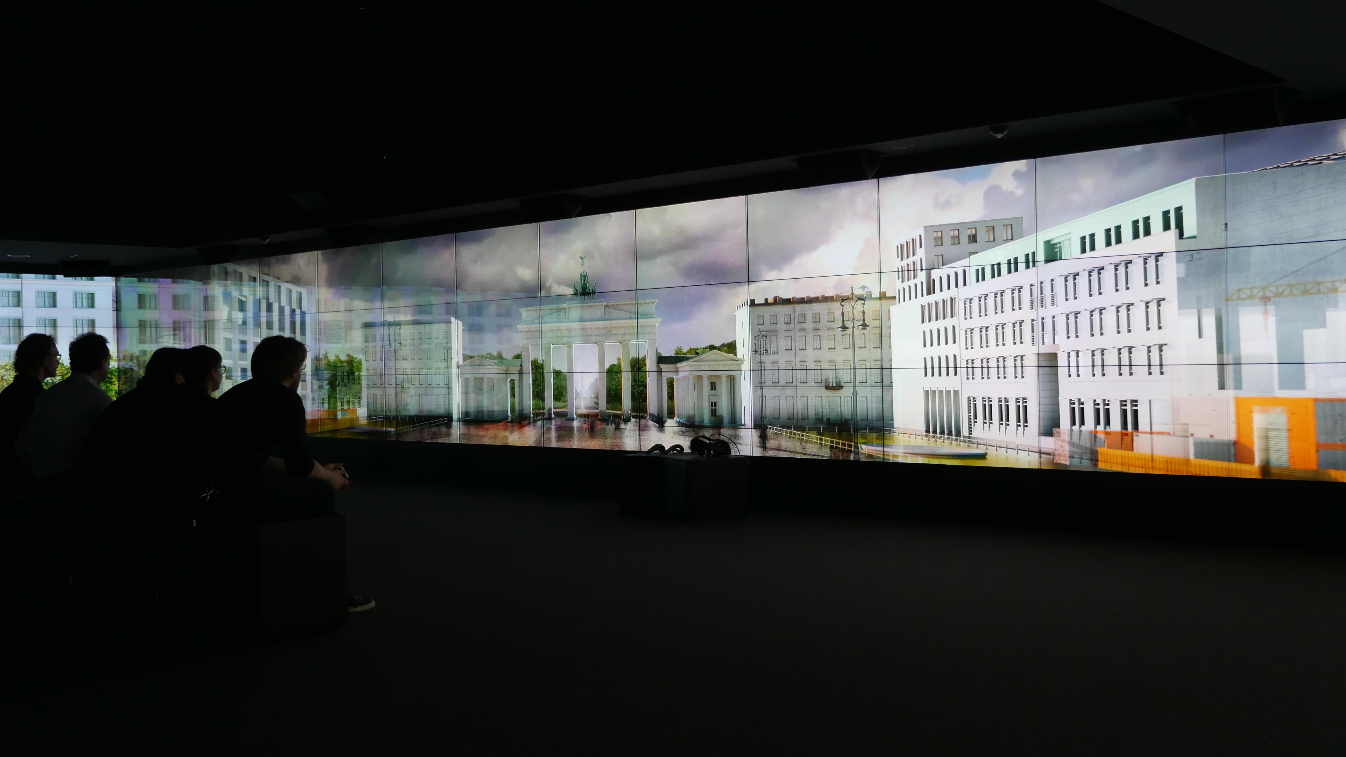 photo: Panasonic media screens used to tell the story of Berlin through the history of the Brandenburger Gate at Brandenburger Gate Museum