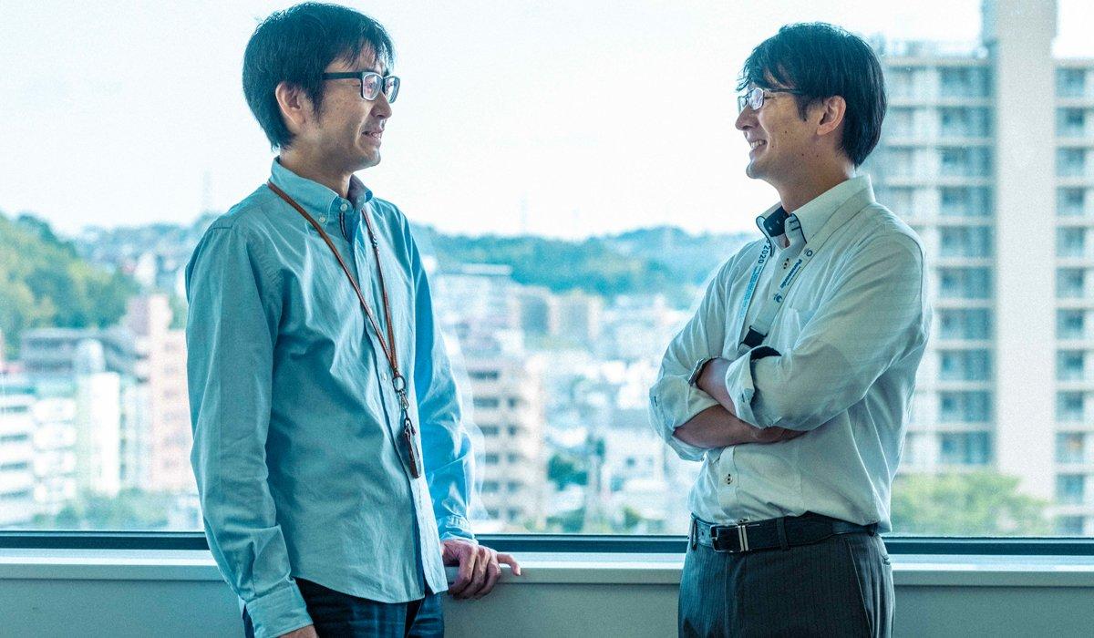(From left to right) Norio Saito and Eisaku Miyata