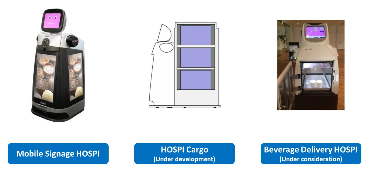 image: Mobile Signage HOSPI, HOSPI Cargo, and Beverage Delivery HOSPI