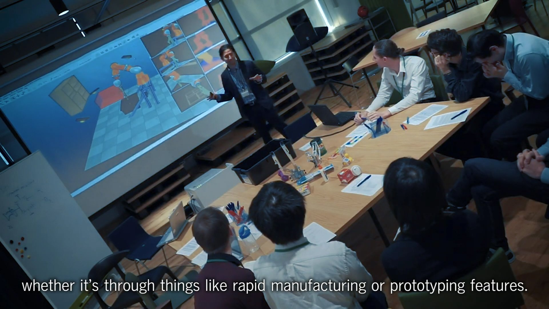 A screenshot from the video 'Interview with Takeshi Ando of Robotics Hub: Towards a more