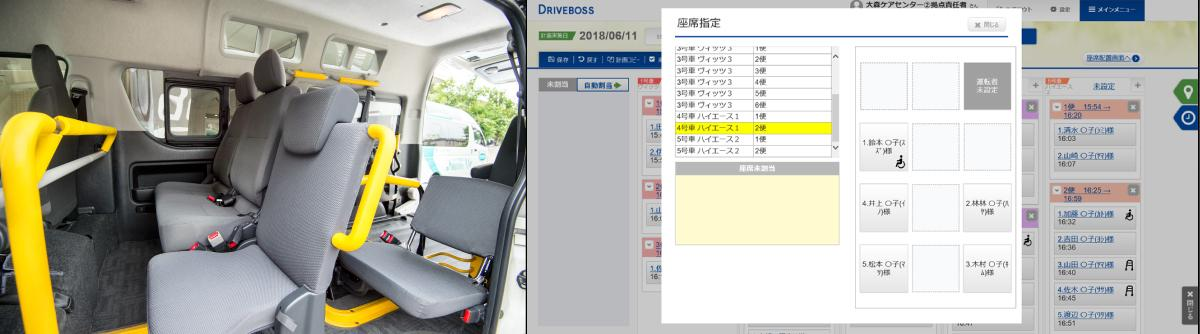 photo: Seating can easily be designated by Panasonic's Transport Assistance Service