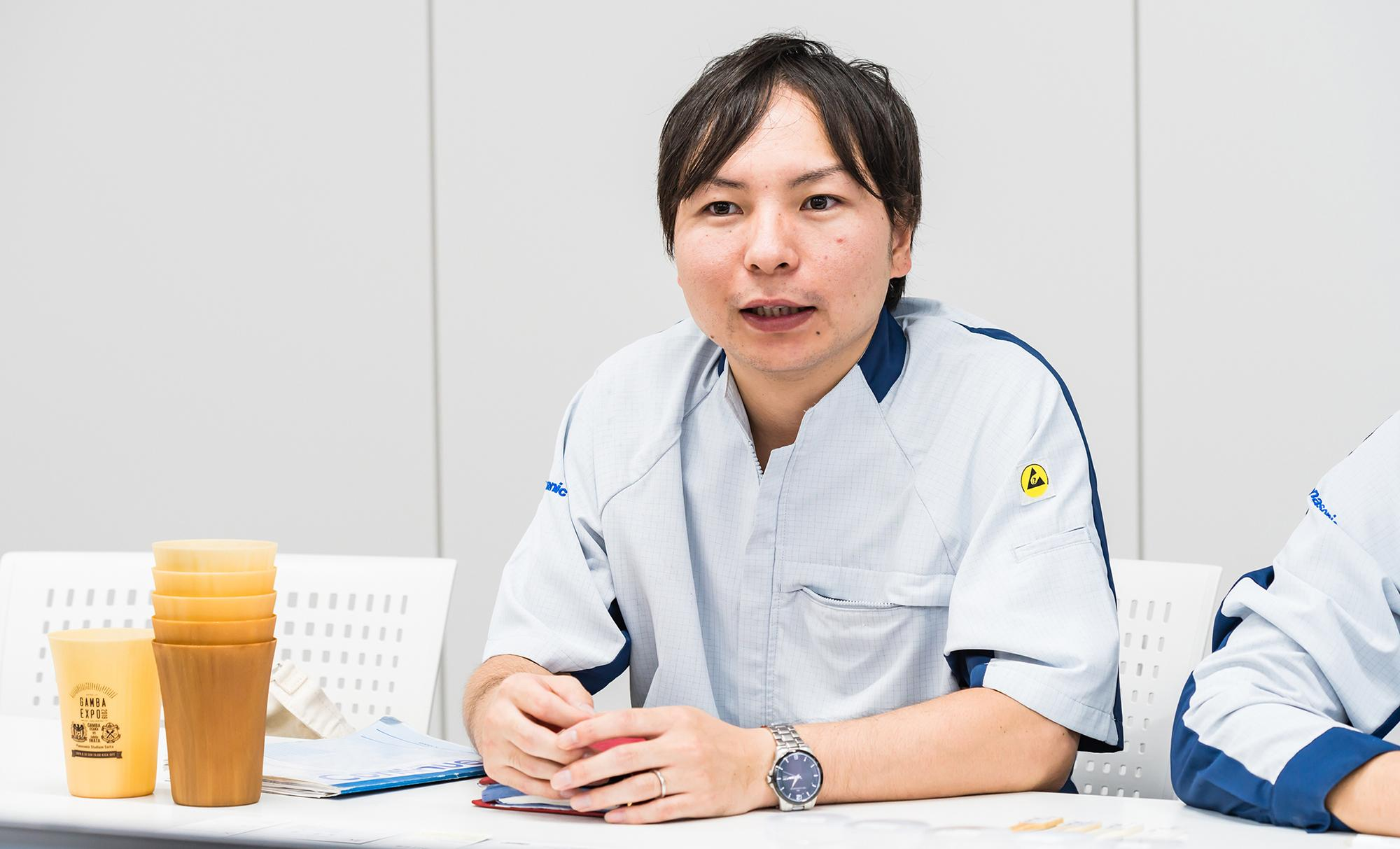 Photo: Shoma Nishino, Staff Engineer, Development Sect. No. 2, Mold & Die Technology Center, Advanced Molding Technology Dept., Manufacturing Innovation Division, Panasonic Corporation