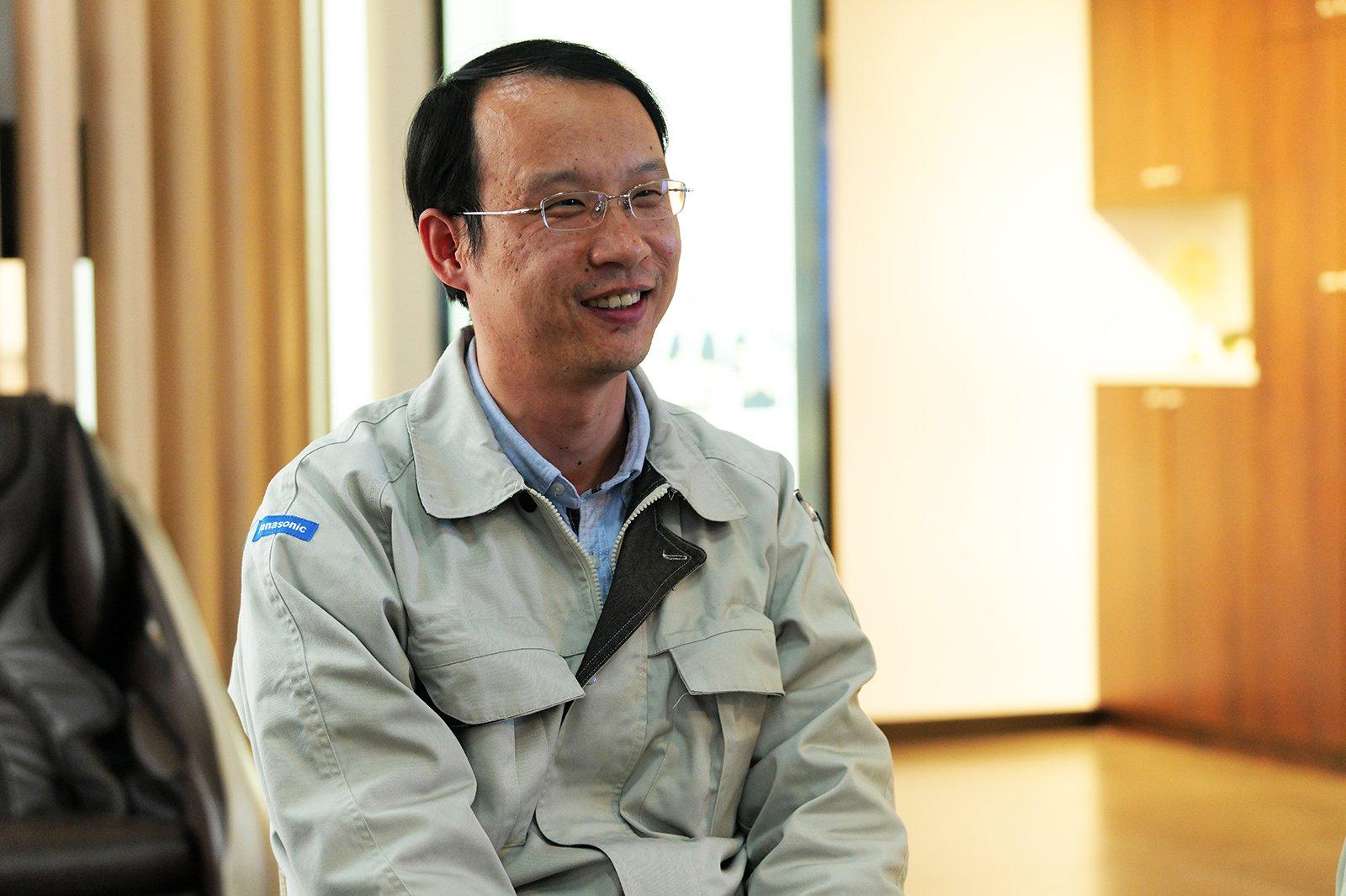 Photo: Yuan Yongliang, contract development, Panasonic Appliances (China) Co., Ltd