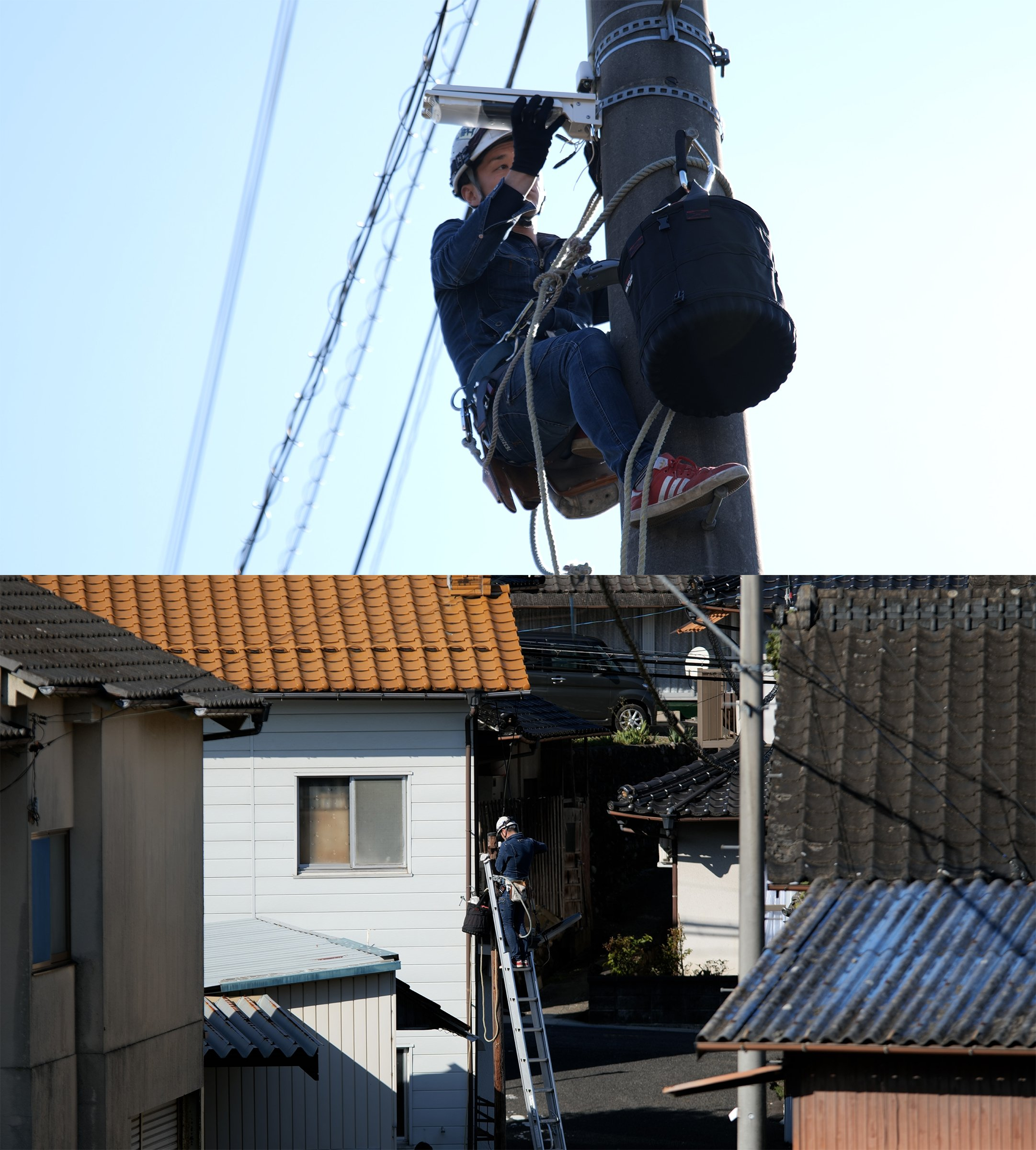 Photo: Working to replace white LED lights with IDA-certified security lighting.