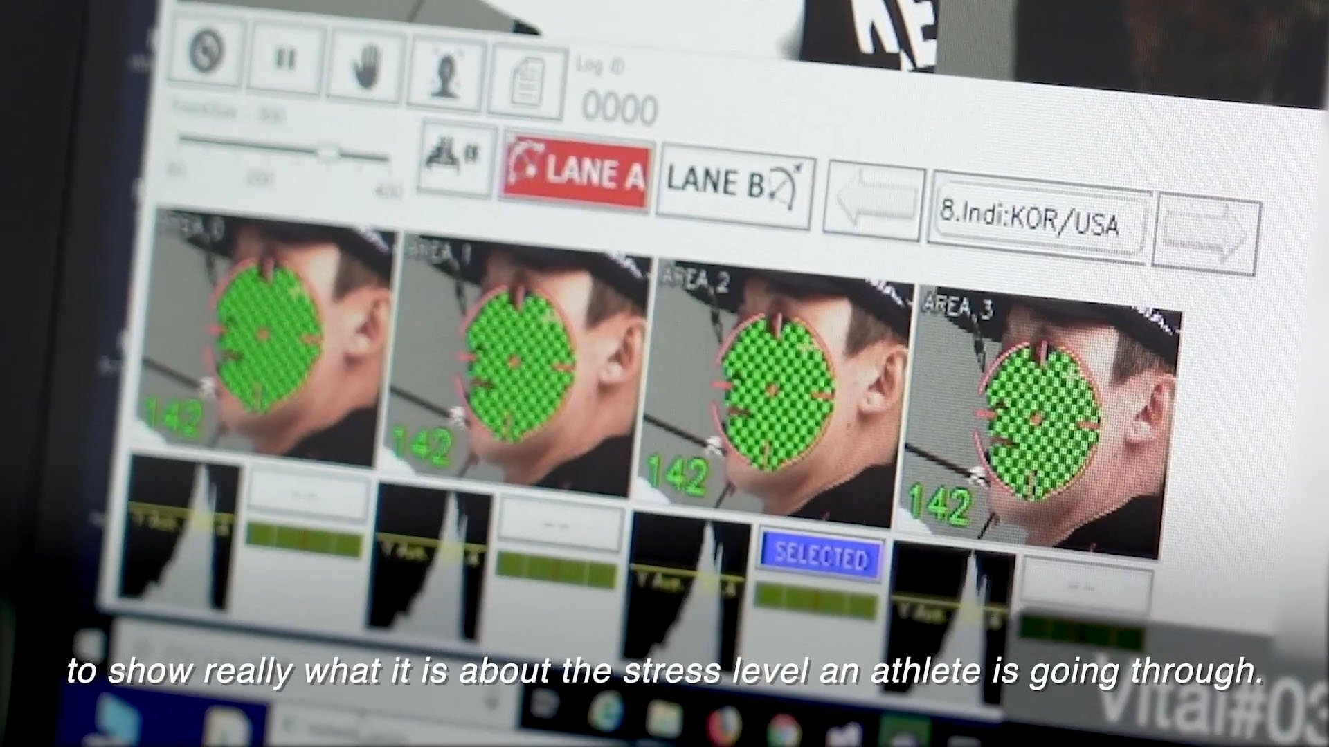 A screenshot from the video 'Contactless Vital Sensing - Field Tasted at 2019 World Archery Championships'