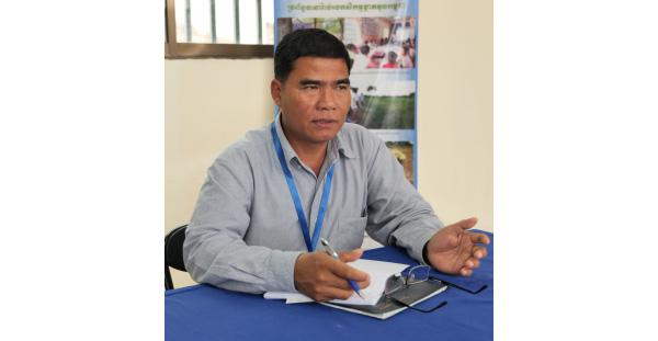 photo: TRY Kong, program coordinator at the Phnom Penh headquarters of Life With Dignity.