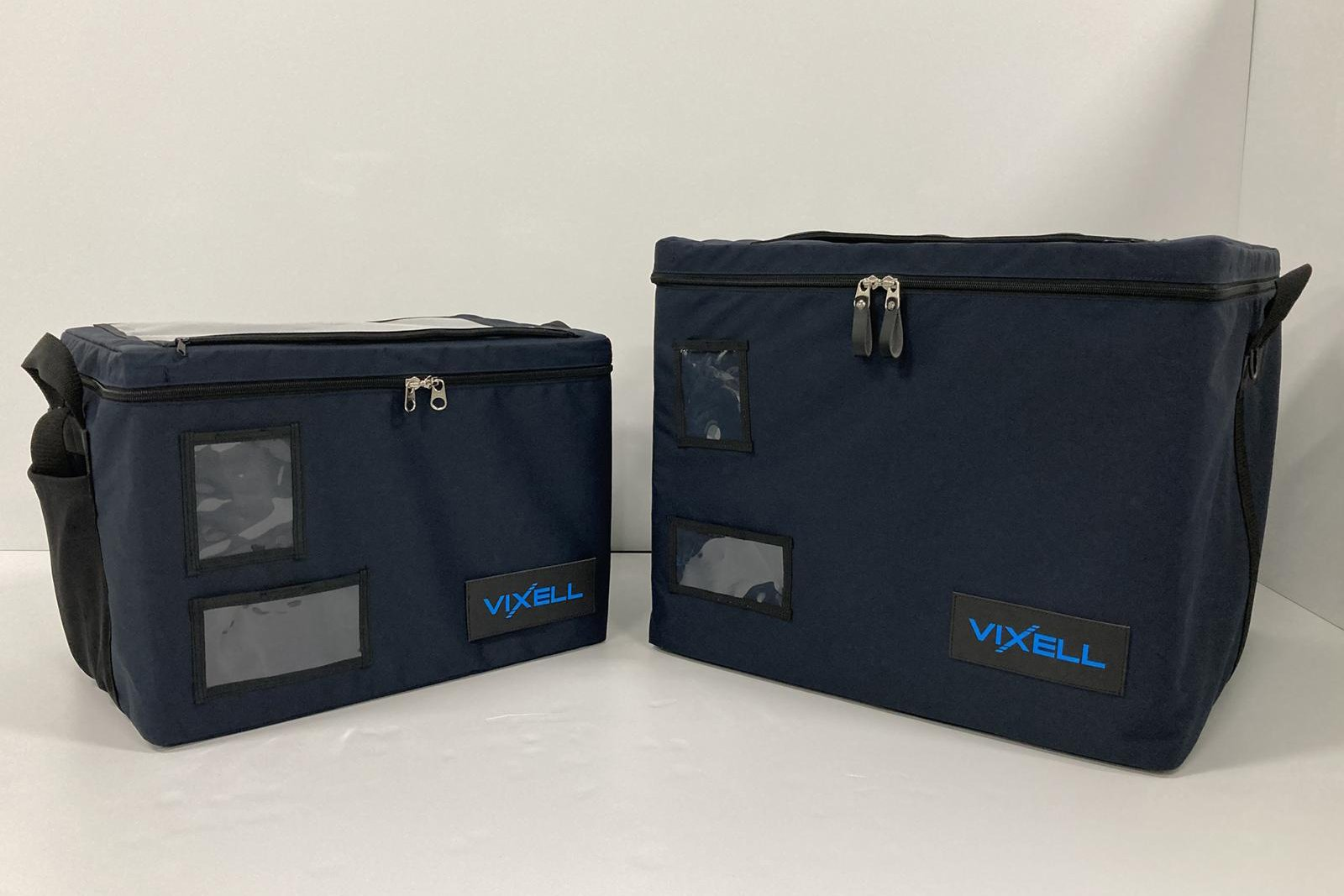 Photo: VIXELL cooling boxes that are currently available in two sizes: 57 liters (left), 120 liters (right).