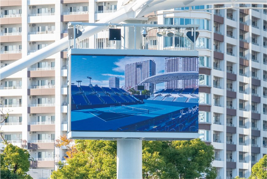 Photo: A 6mm pitch Large Screen Display System installed at the Show Court.
