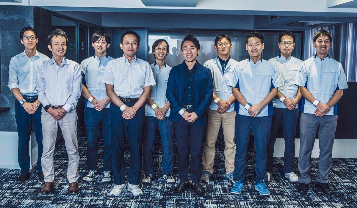 Photo, from left to right: Shota Miura, Naoyuki Shimizu, Tomonari Kuriaki, Minoru Kumahara, Takuma Ishida, Ryo Yamada, Masanori Minamiyama, Masashi Takeda, Mitsuru Tomita, and Kenta Tanaka.