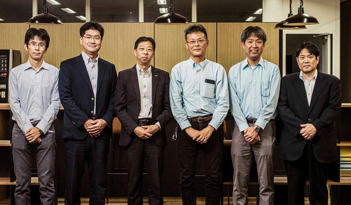 Photo, from left to right: Takahiro Nakamura, Mikiya Nambo, Takashi Kano, Shinsuke Yuasa, Masaki Igarashi, and Takafumi Kodama.