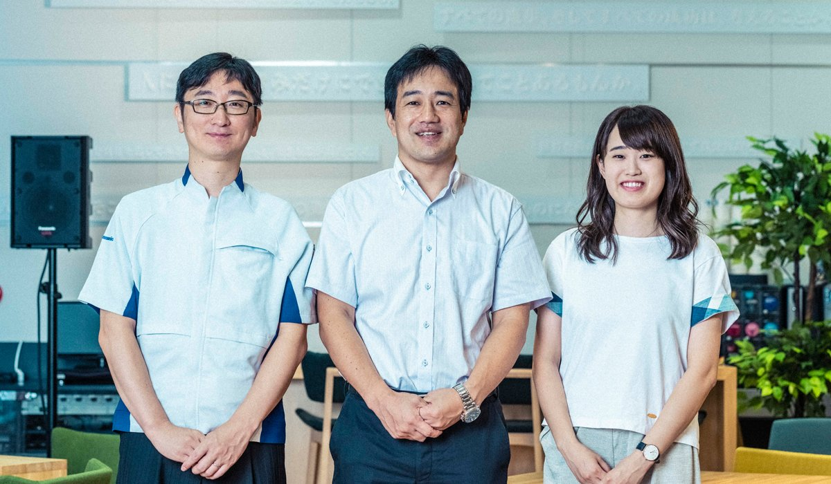 (From left to right) Hiromichi Sotodate, Masashige Tsuneno, and Yuiko Takase