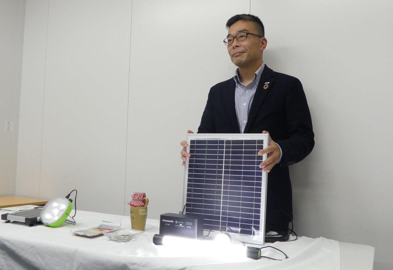 Photo: Junichi Mizuno, Supervisor of the CSR & Citizenship Department, Groupwide Brand Strategy Division, Panasonic Corporation.