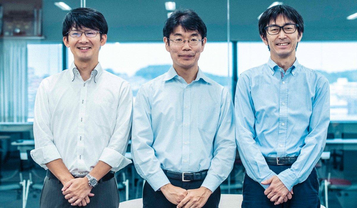 (From left to right) Eisaku Miyata, Takashi Kamio, and Norio Saito