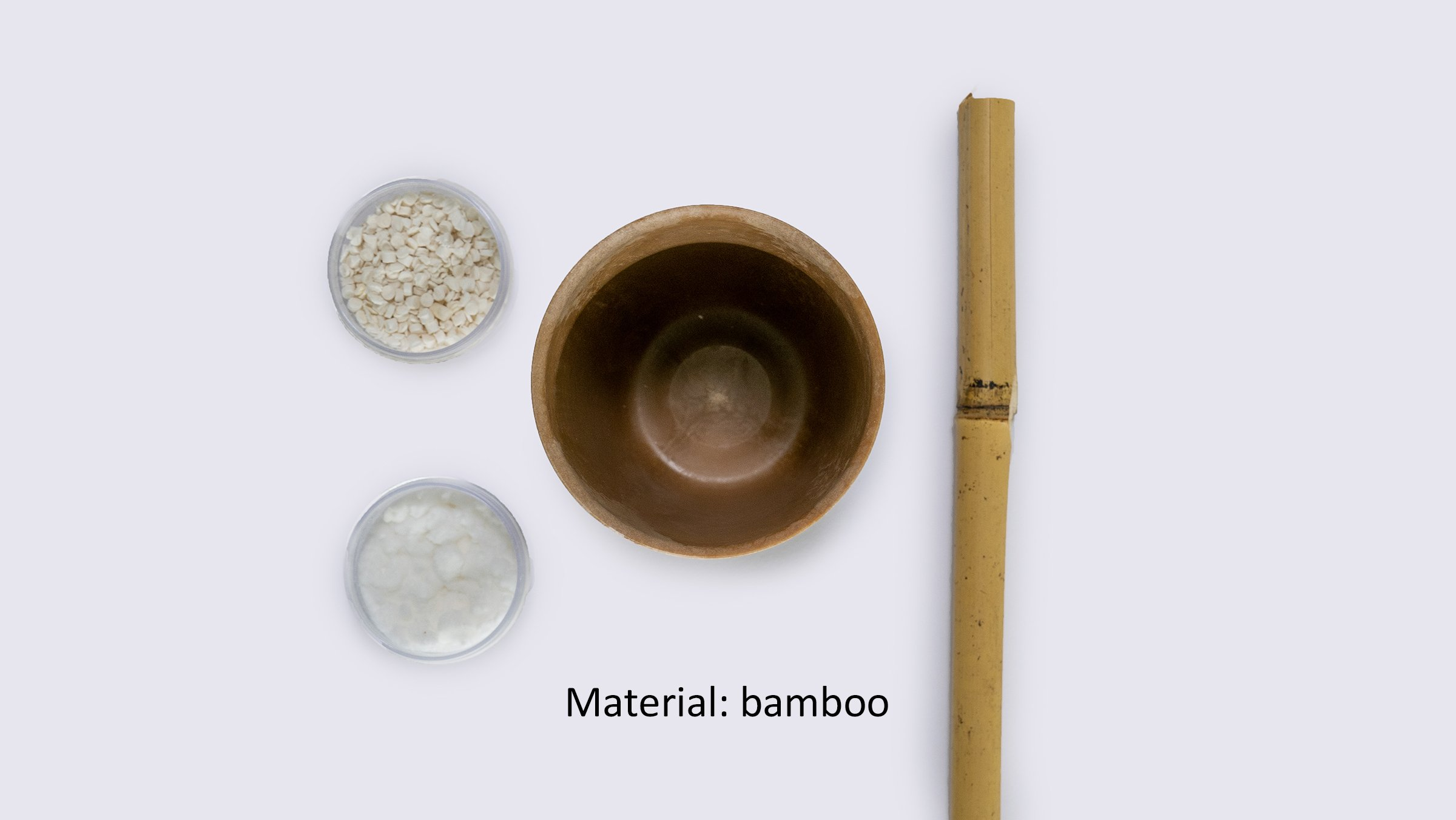 Photo: Reusable cups using cellulose fiber (material: bamboo).